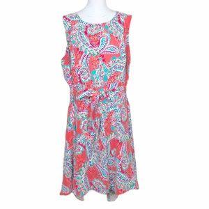 Jessica London paisley/floral high low hem dress